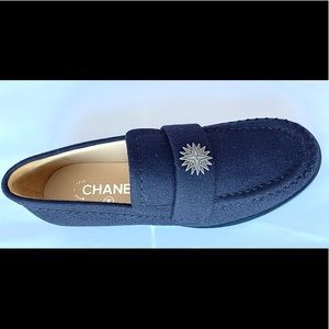 Chanel wool loafers size 38/8 navy